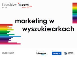 Marketing w wyszukiwarkach - raport