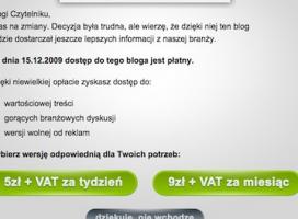 Czy w Polsce będziemy płacić za dostęp do blogów?