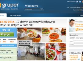 Gruper.pl - pierwsza polska platforma grupowych zakupów
