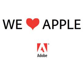 Adobe wyznaje miłość Apple. Ale tylko w reklamie