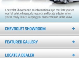 Chevrolet Showroom dla iPhone, iPod Touch, iPad