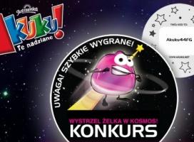 """Nowa kampania żelek Akuku!- """"Wystrzel żelka w kosmos"""""""