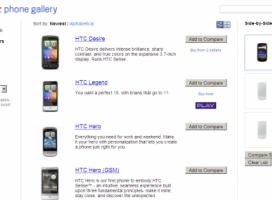 Google uruchamia porównywarkę Androidów