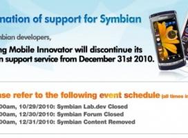 Samsung kończy ze wsparciem dla smartfonów z Symbianem