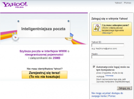 Poczta Yahoo w polskiej wersji