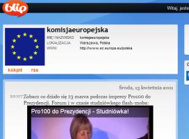 Komisja Europejska mikrobloguje. Dzień po dniu