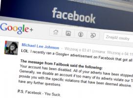 Walka gigantów o reklamy. Facebook blokuje Google+