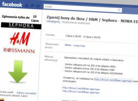 Fałszywy konkurs na Facebooku