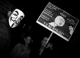 Tak internauci protestowali przeciwko ACTA we Wrocławiu [galeria]