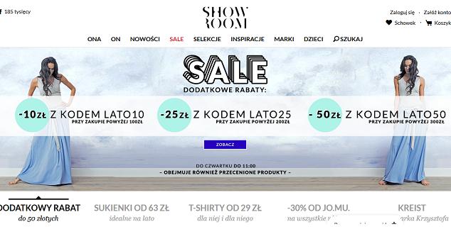 Showroom.pl - zrzut z ekranu