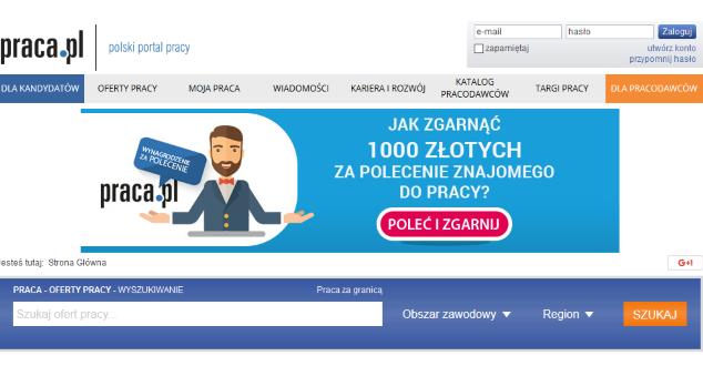 Praca.pl (zrzut ekranu)