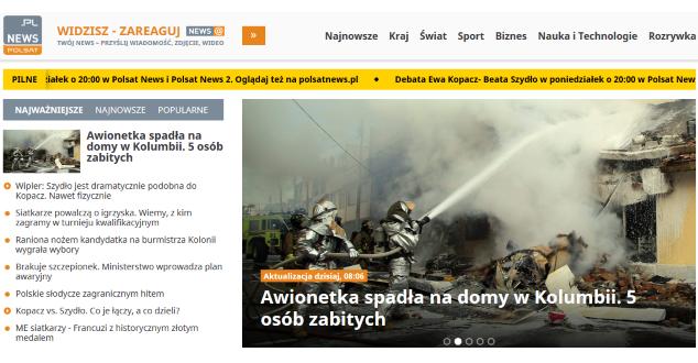 Polsatnews.pl - zrzut z ekranu