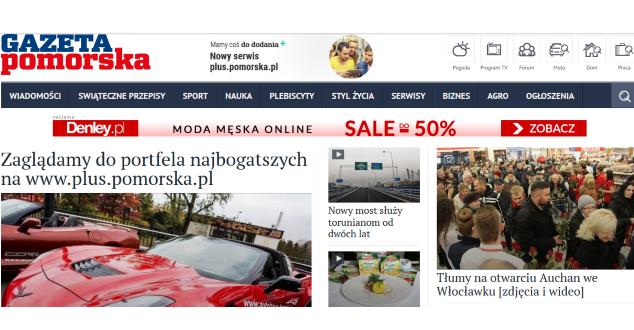 www.pomorska.pl, zrzut z ekranu