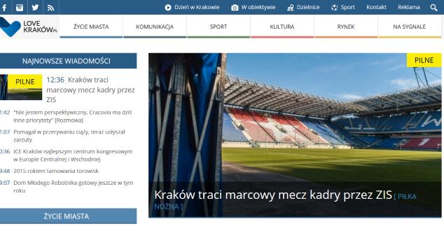 LoveKrakow.pl, regionalny krakowski serwis, zmienia się. Na dobre?
