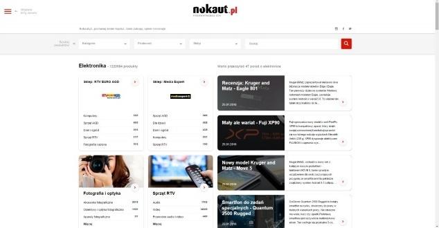 Nokaut.pl - nowa strona główna (fot. Nokaut.pl)
