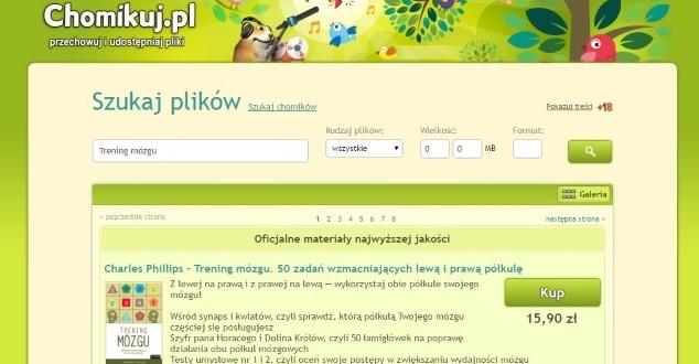 Serwis Chomikuj.pl nie chce być kojarzony z nielegalnymi treściami