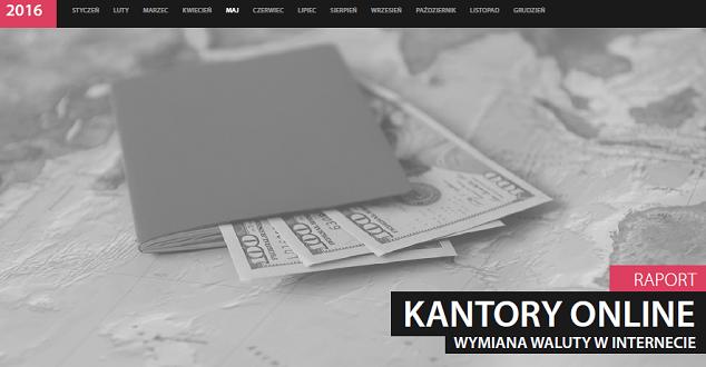 """Raport Interaktywnie """"Kantory Online 2016"""""""