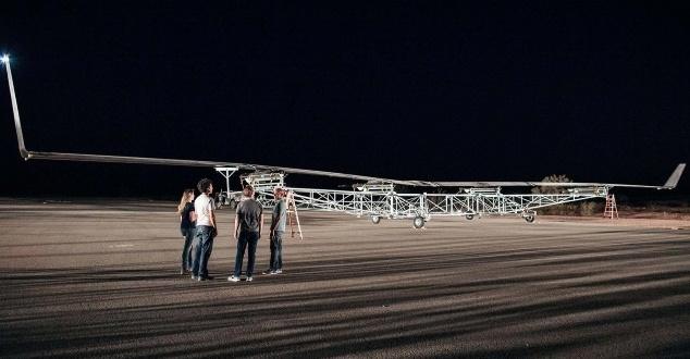 Bezzałogowy samolot Aquila po pierwszym testowym locie [WIDEO]