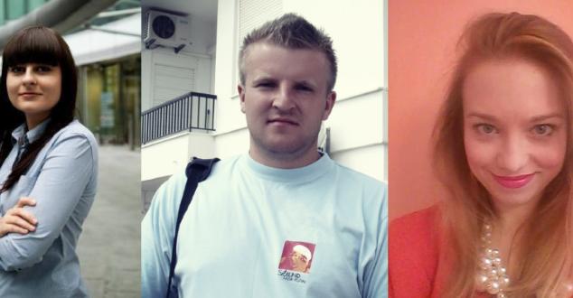 Anna Pietrzkiewicz, Adam Tokarski, Paulina Zalewska (od lewej)