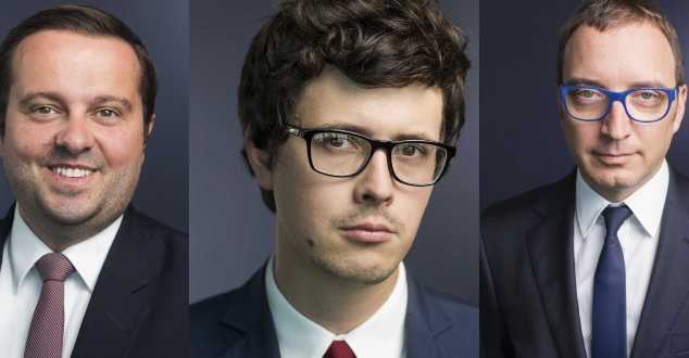Od lewej: Adam Sanocki, Dawid Michnik, Maciej Sokołowski (fot. Attention)