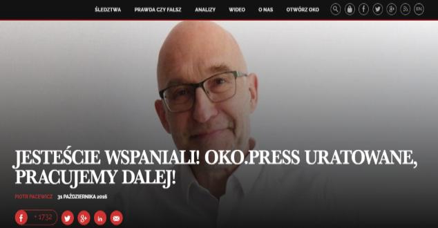 Oko.press, Piotr Pacewicz