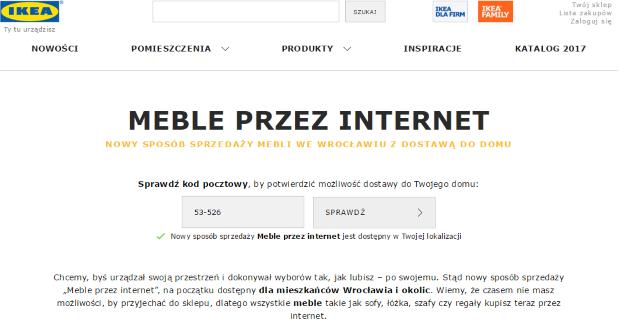 We Wrocławiu meble z Ikei kupisz przez internet