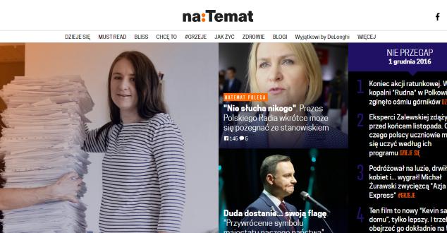 """NaTemat w 2012 roku wyznaczyło """"kafelkowy"""" trend. Nowy layout wpisał się w istniejące"""