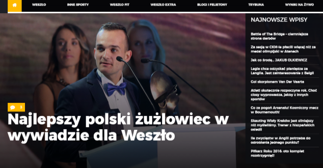 źródło: screen shot www.weszlo.com