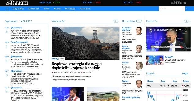 Parkiet.com - materiały prasowe