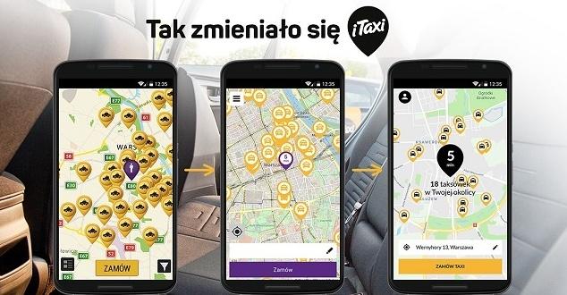 Aplikacja iTaxi pojawiła się w nowej odsłonie