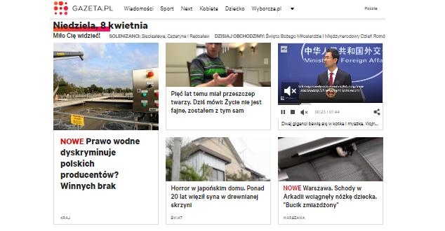 Gazeta.pl testuje nową stronę główną. Zobacz, jak zmieniała się przez lata