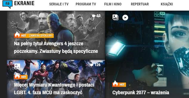 źródło: screen ze strony www.naekranie.pl