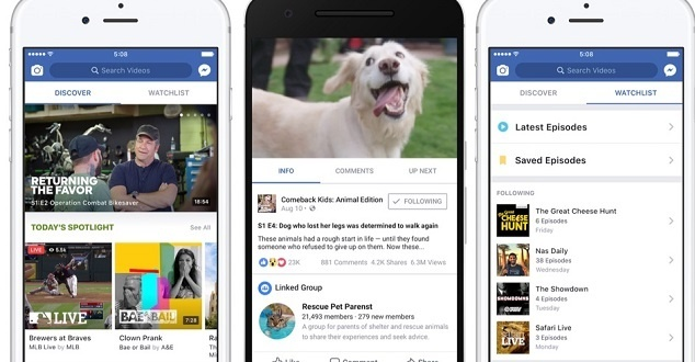 957a8f4c29cbc6 Facebook w świecie VOD zadebiutował późno, dużo później nie tylko niż  YouTube, ale też Twitter czy Snap, ale kilka elementów, którymi postanowił  wyróżnić ...