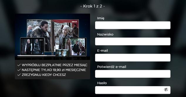 screen ze strony hbogo.pl