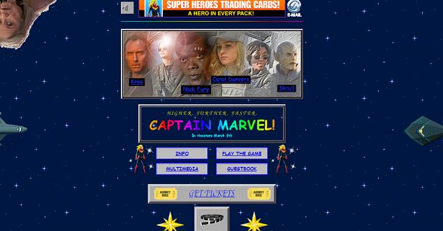 Czujesz nostalgię za internetem z lat 90.? Zajrzyj na stronę filmu Captain Marvel