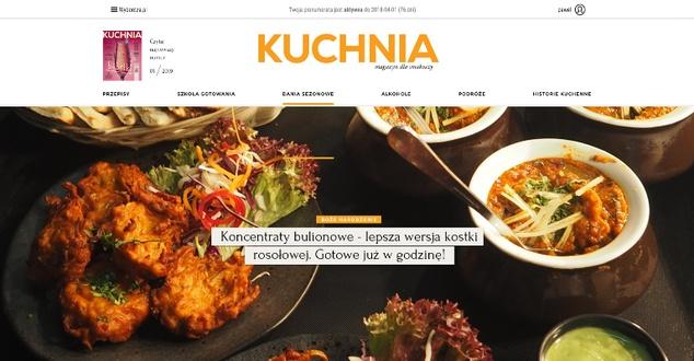 Internetowy magazyn Kuchnia po odświeżeniu. Sprawdzamy, co się zmieniło