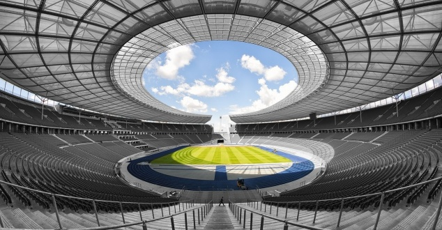 stadion, piłka, fot. 3093594, pixabay