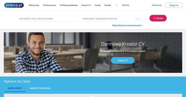 Nowy layout Pracuj.pl