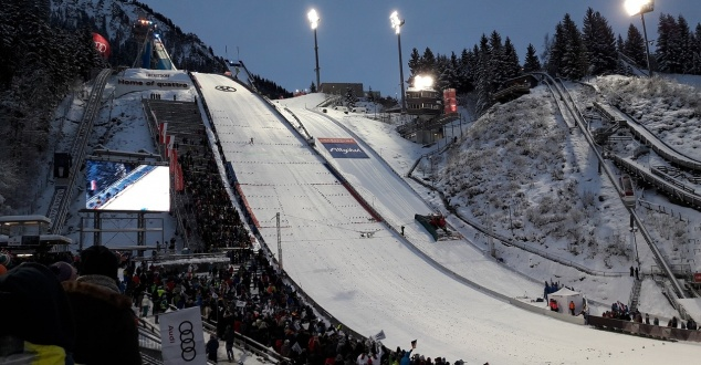 skocznia narciarska, zima, sport, fot. guidokamm, pixabay