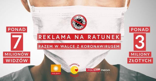 Reklama na ratunek – Razem w walce z koronawirusem. Zebrano ponad 3 mln złotych