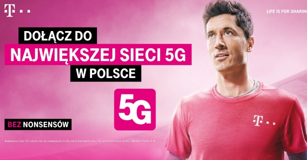 Robert Lewandowski w nowej kampanii T-Mobile. Reklamuje 5G. Zobacz zdjęcia