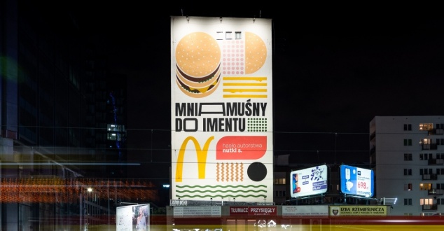 mural, Big Mac, hamburger, fot. McDonalds
