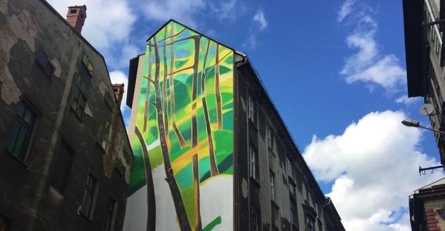 Ekologiczny mural Aldi będzie oczyszczał powietrze