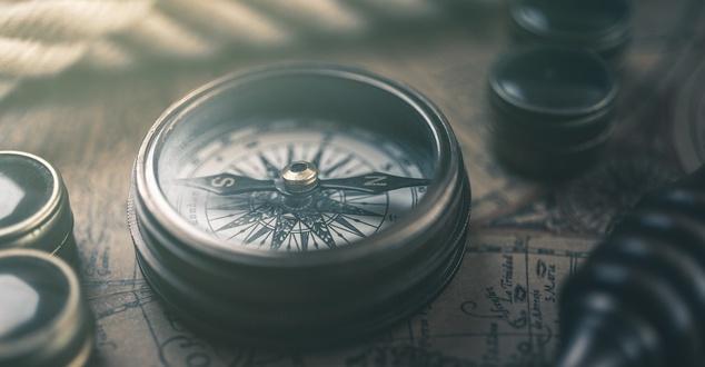kompas, mapa, fot. ghinzo, pixabay