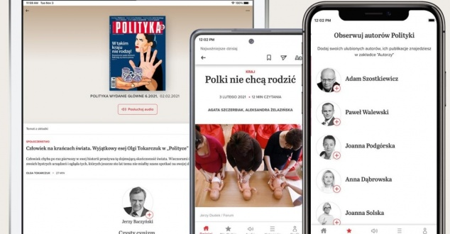 Nowa aplikacja mobilna tygodnika Polityka. Oto jej najciekawsze funkcje