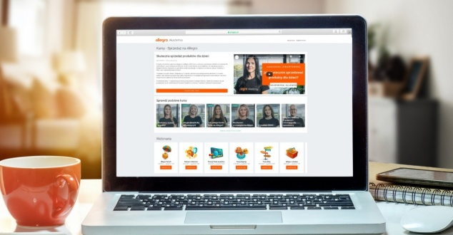 Akademia Allegro, laptop, ecommerce, fot. Allegro