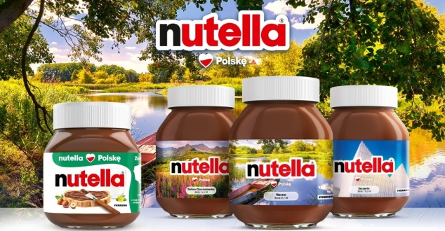 Nutella Kocha Polskę. W ramach nowej kampanii na etykietach pojawiło się 16 inspirujących miejsc