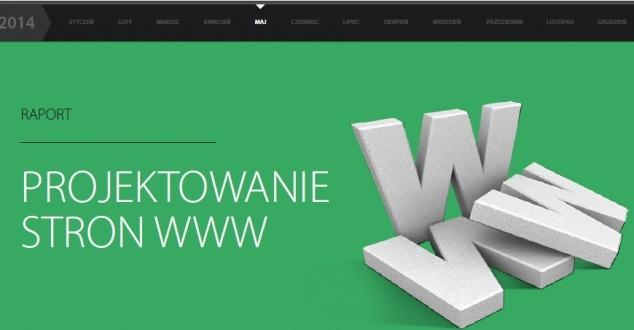"""Raport Interaktywnie.com """"Projektowanie stron WWW"""""""
