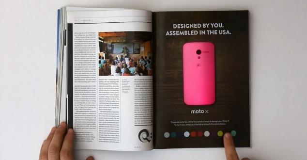 Reklama Motoroli, która zmienia kolor w magazynie