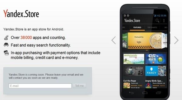 Yandex uruchamia własny sklep z aplikacjami